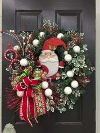 On a budget diy christmas wreath to deck out your door 10