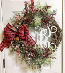 On a budget diy christmas wreath to deck out your door 21