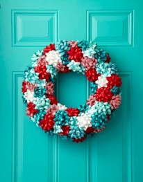 On a budget diy christmas wreath to deck out your door 40