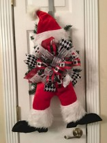 On a budget diy christmas wreath to deck out your door 43