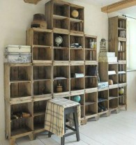 Diy wood crate shelves projects to calm the clutter effectively 09