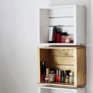 Diy wood crate shelves projects to calm the clutter effectively 16