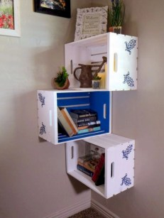 Diy wood crate shelves projects to calm the clutter effectively 20