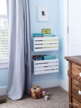 Diy wood crate shelves projects to calm the clutter effectively 25