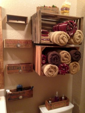 Diy wood crate shelves projects to calm the clutter effectively 28