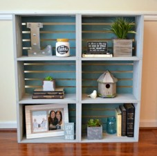 Diy wood crate shelves projects to calm the clutter effectively 32