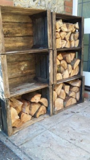 Diy wood crate shelves projects to calm the clutter effectively 52