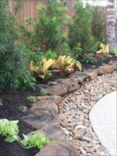 Simple rock garden decor ideas for your backyard 29