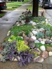 Simple rock garden decor ideas for your backyard 31
