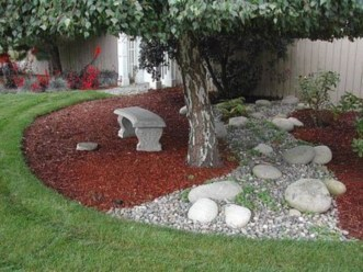Simple rock garden decor ideas for your backyard 36