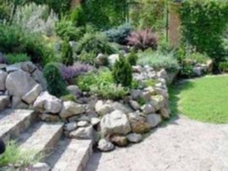 Simple rock garden decor ideas for your backyard 41