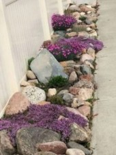 Simple rock garden decor ideas for your backyard 45