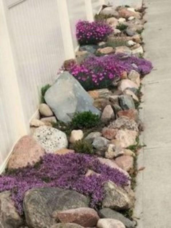 Simple rock garden decor ideas for your backyard 45