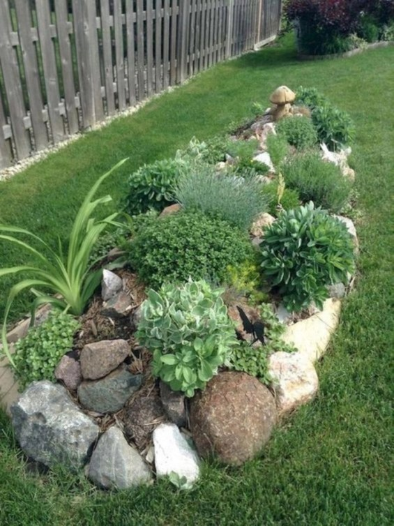 Simple rock garden decor ideas for your backyard 46
