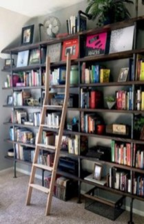 Smart and unusual book's storage ideas for book lovers 36