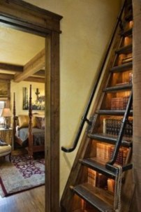 Smart and unusual book's storage ideas for book lovers 38