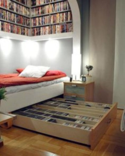 Smart and unusual book's storage ideas for book lovers 50