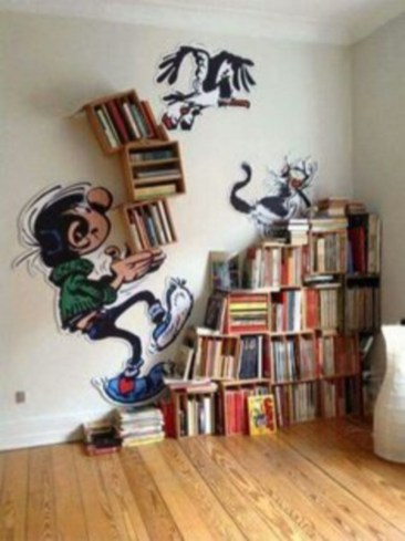 Smart and unusual book's storage ideas for book lovers 52
