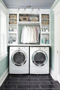 Beautiful and functional small laundry room design ideas 31