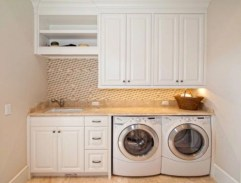 Beautiful and functional small laundry room design ideas 40