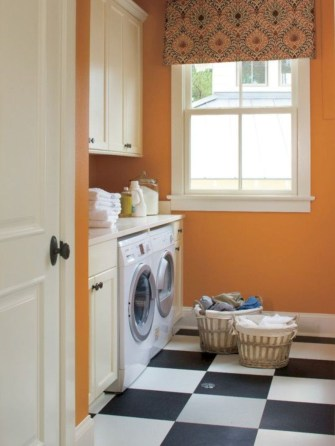 Beautiful and functional small laundry room design ideas 45