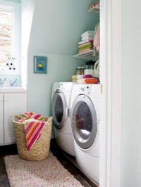 Beautiful and functional small laundry room design ideas 47