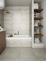 Built-in bathroom shelf and storage ideas to keep your bathroom organized 20