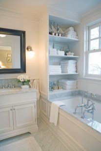 Built-in bathroom shelf and storage ideas to keep your bathroom organized 21