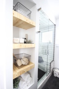 Built-in bathroom shelf and storage ideas to keep your bathroom organized 22