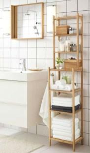 Built-in bathroom shelf and storage ideas to keep your bathroom organized 30