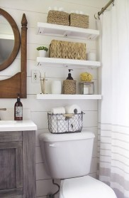 Built-in bathroom shelf and storage ideas to keep your bathroom organized 31