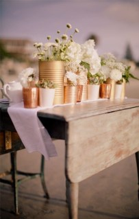 Charming rustic centerpieces that will fill up your tables 09