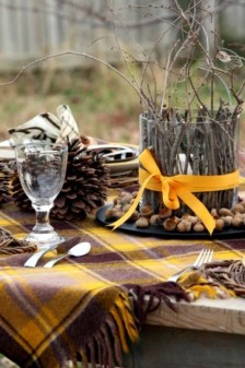 Charming rustic centerpieces that will fill up your tables 52