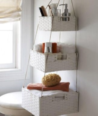 Hanging bathroom storage ideas to maximize your small bathroom space 24