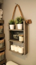 Hanging bathroom storage ideas to maximize your small bathroom space 46