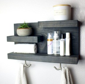 Hanging bathroom storage ideas to maximize your small bathroom space 47