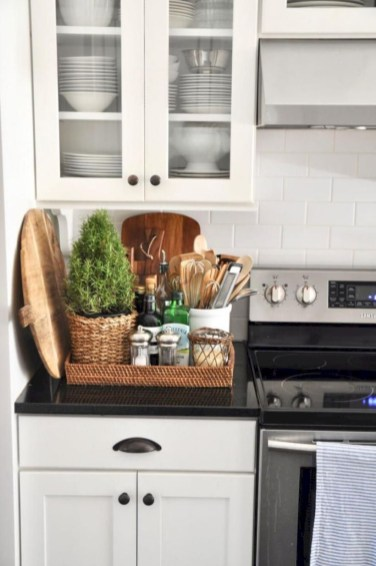 Inventive kitchen countertop organizing ideas to keep it neat 40