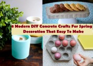 8 modern diy concrete crafts for spring decoration that easy to make
