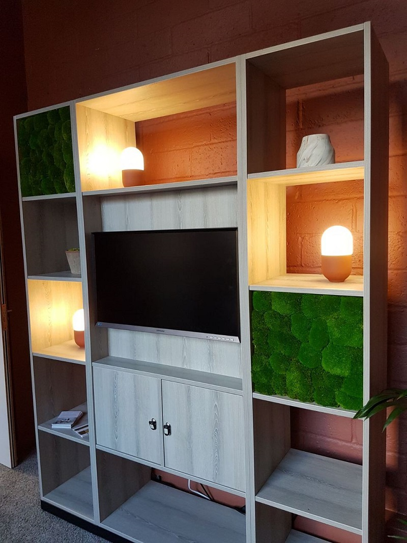 Built-In Moss Panels
