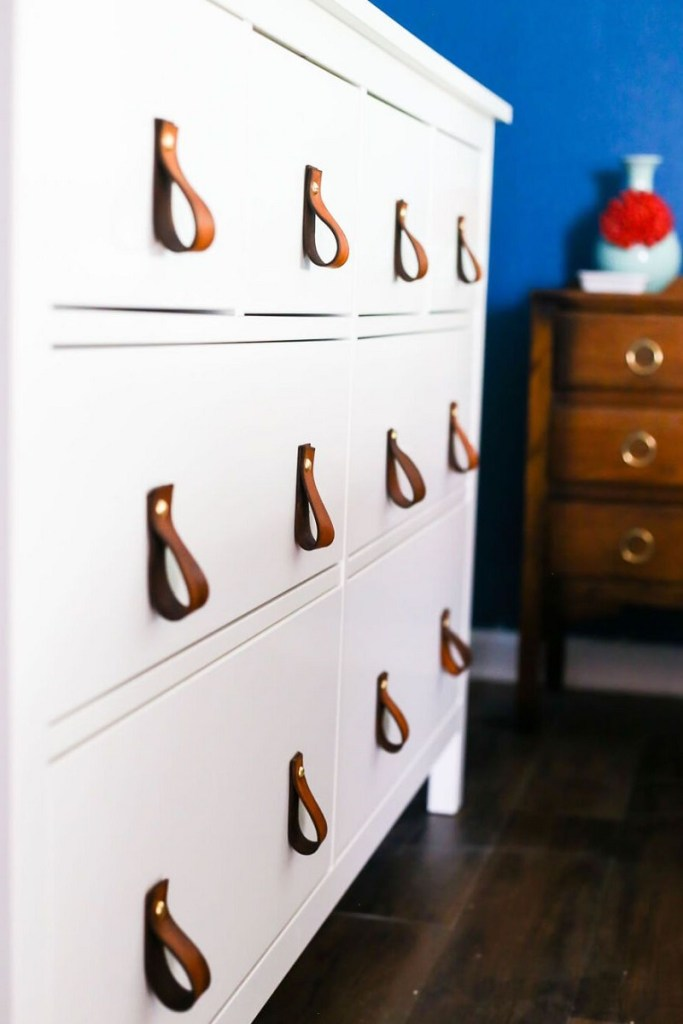 Diy-leather-drawer-pulls