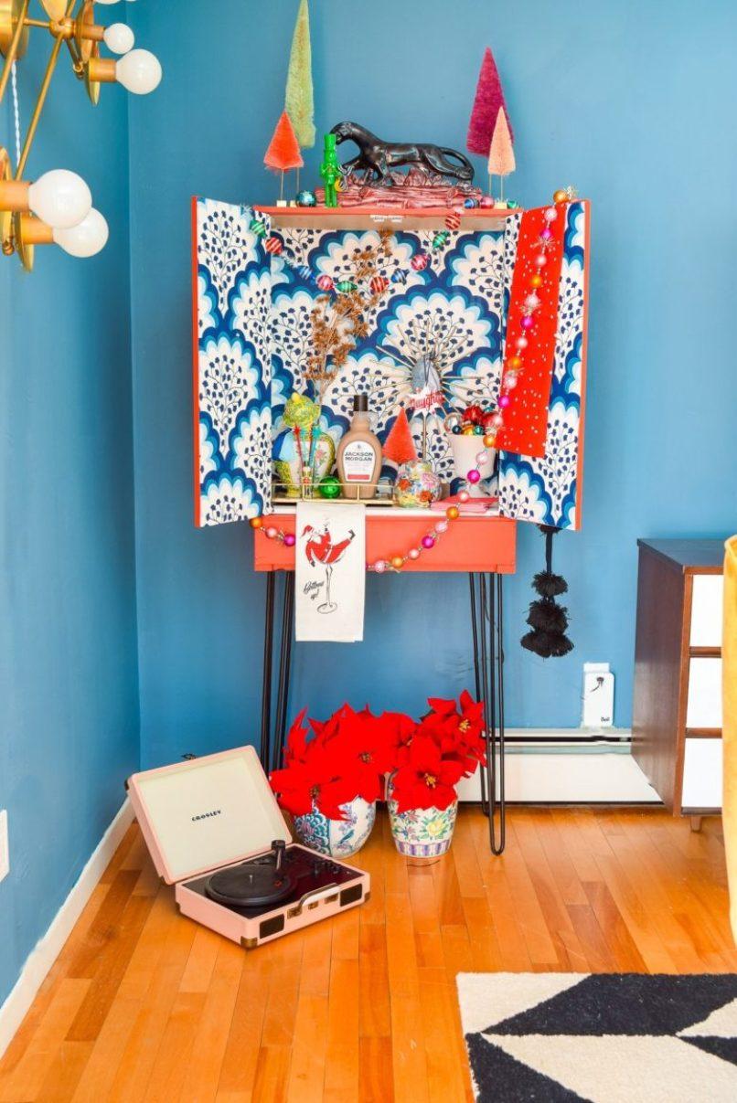 DIY Super Colorful Mid-Century Modern Cabinet