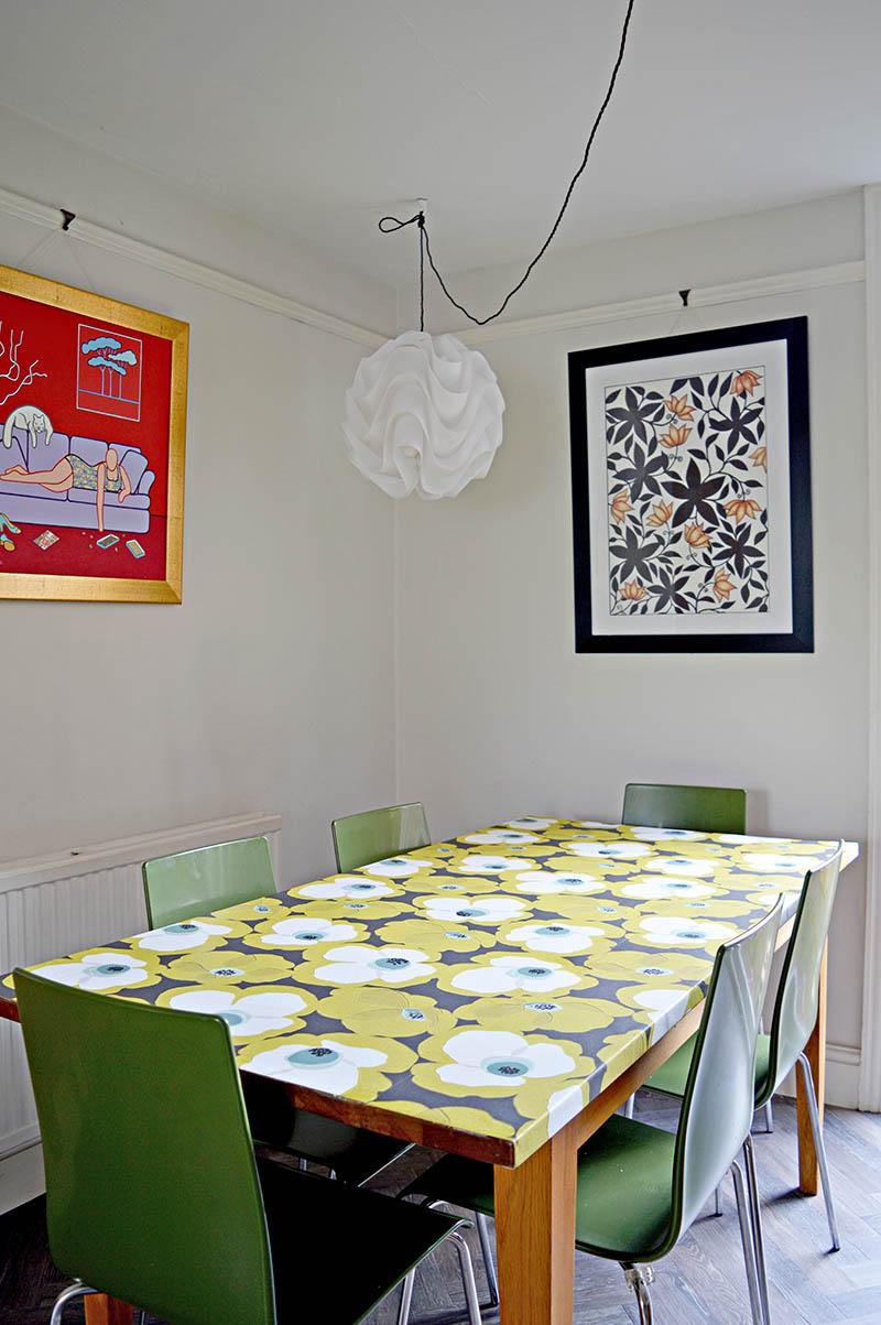 DIY Wallpaper Decoupage Tabletop
