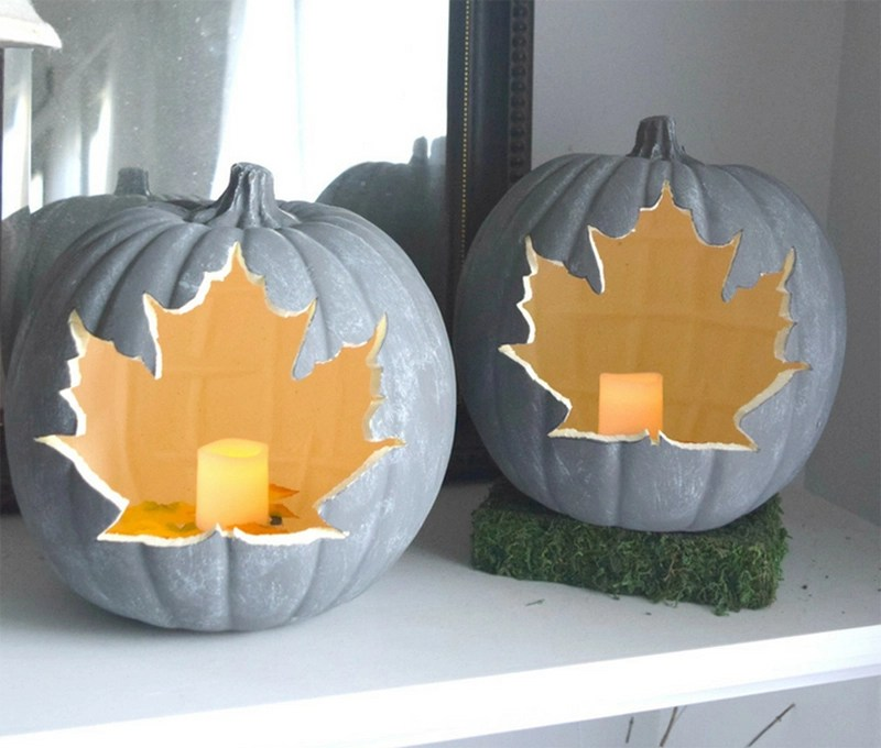 Leaf Pumpkin With Candle