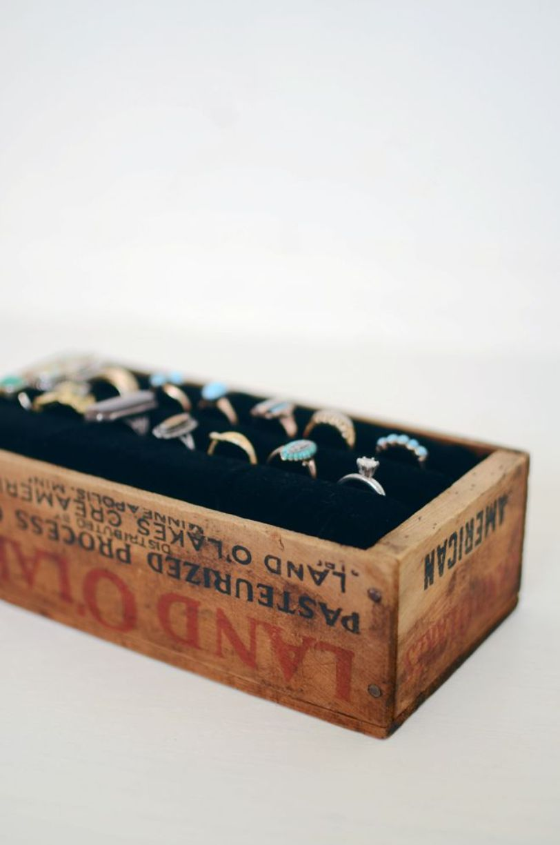 Old Box Into a Ring Display
