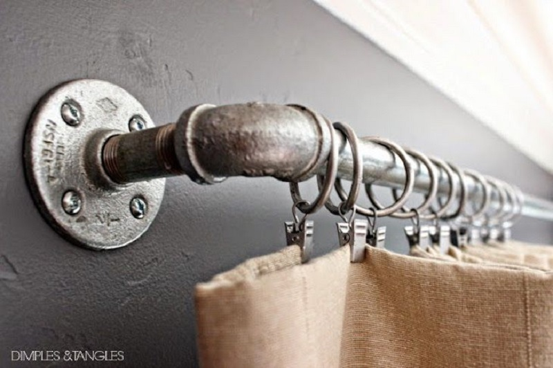 Rustic Curtain Rod