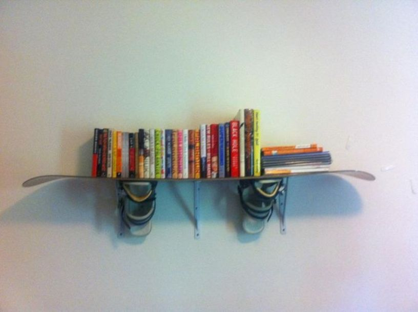 Snowboards As Bookshelf