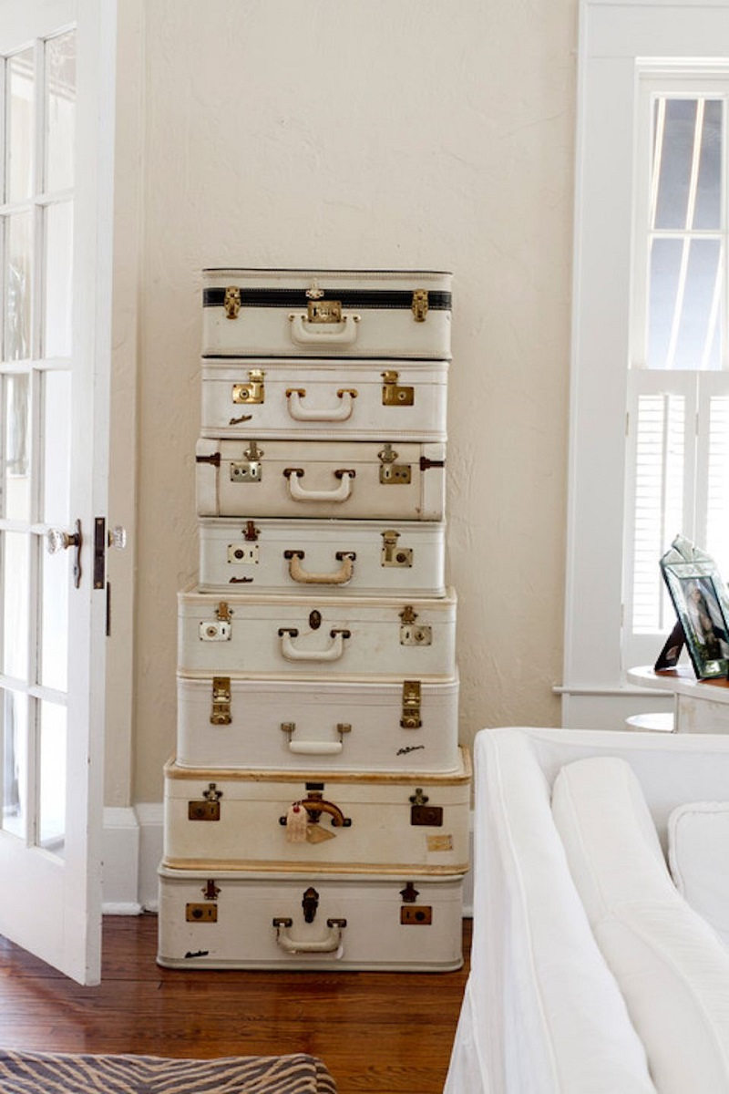 Suitcases As Shelving Units