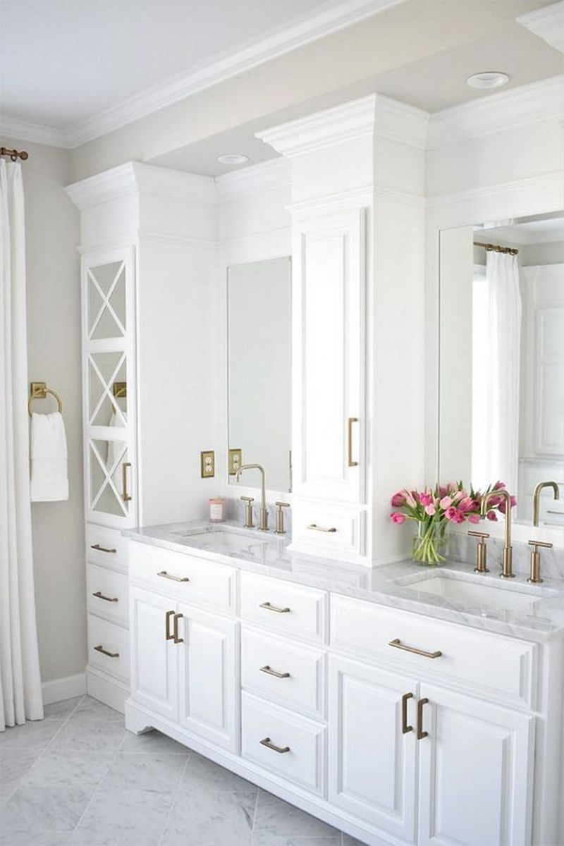 exciting master bathroom white cabinets | 25 Modern Master Bathroom Renovation Ideas to Consider ...