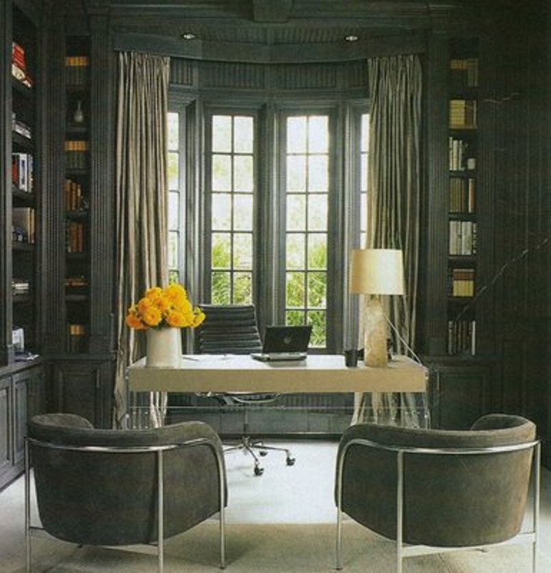 bay window's space for a home office