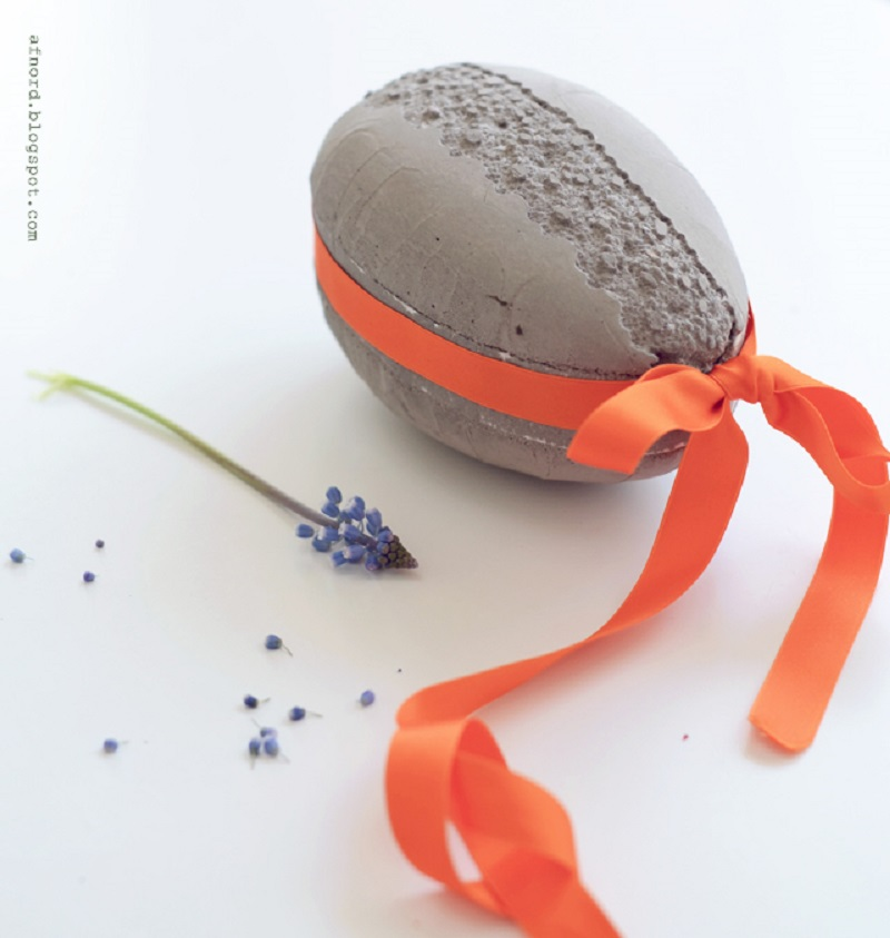concrete lace printed Easter eggs